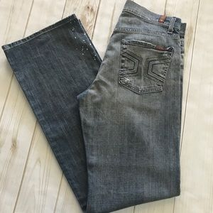 7 For All Mankind Destroyed Distressed Jeans, 28